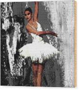Ballerina Dance 073 Wood Print