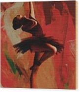 Ballerina Dance 0800 Wood Print