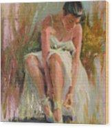Ballerina Wood Print by David Garrison