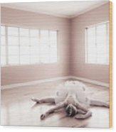 Ballerina Down Wood Print