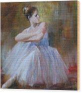 Ballerina E Wood Print