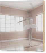 Ballerina Ghost Wood Print