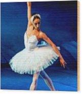 Ballerina On Stage L B Wood Print
