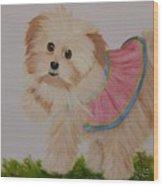 Ballerina Puppy Wood Print