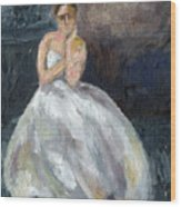 Ballerina Waiting Wood Print
