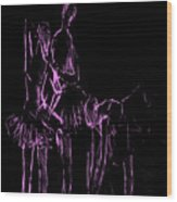 Ballet Before The Curtain Rises  Wood Print