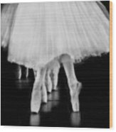 Ballet Black And White Wood Print