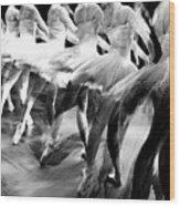 Ballet Dancers Wood Print