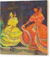 Ballet Folklorico Wood Print
