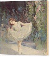 Ballet Wood Print by Septimus Edwin Scott