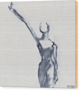 Ballet Sketch One Arm Extended Wood Print