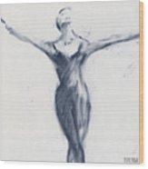 Ballet Sketch Open Arms Wood Print