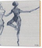 Ballet Sketch Passe En Pointe Wood Print