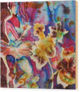 Ballet With Orchids Wood Print