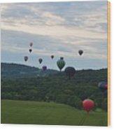 Ballon Festival  Wood Print