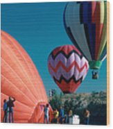 Ballon Launch Wood Print