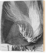 Balloon Accident, 1850 Wood Print