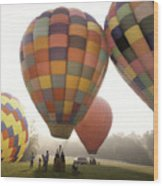Balloon Day Is A Happy Day Wood Print