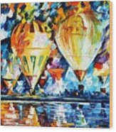 Balloon Festival New Wood Print