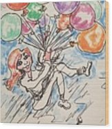 Balloon Flight  Wood Print