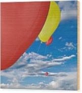 Balloon Launch Wood Print