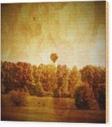 Balloon Nostalgia Wood Print by Michael Garyet