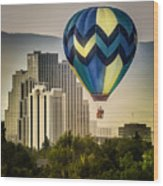 Balloon Over Reno Wood Print