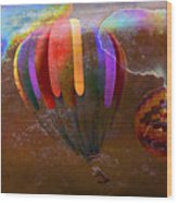 Balloon Race Wood Print