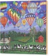 Balloon Race Two Wood Print