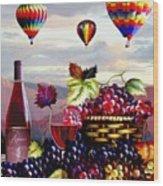 Balloon Ride At Dawn Wood Print
