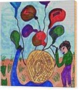 Balloon Sales Wood Print