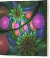 Balloonatic Wood Print
