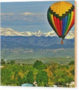 Ballooning Over The Rockies Wood Print by Scott Mahon