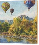 Balloons At Twin Lakes Wood Print