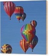 Balloons In Albuquerque Wood Print