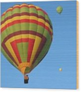 Balloons New Mexico Wood Print