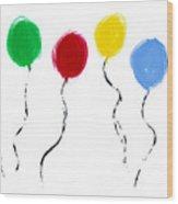 Balloons  Wood Print