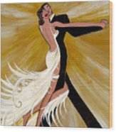 Ballroom Dance Wood Print