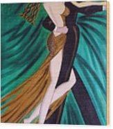 Ballroom Dancers Champagne Tango Wood Print