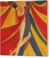 Ballroom Dancing Tango Wood Print