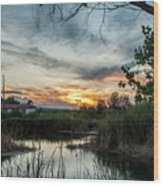 Balmorhea Sunset Wood Print