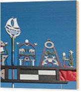 Baltic Windvane Wood Print