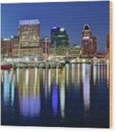 Baltimore Blue Hour Wood Print
