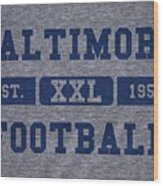 Baltimore Colts Retro Shirt Wood Print