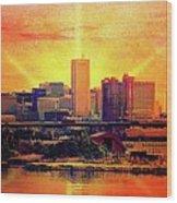 Baltimore Horizon Wood Print
