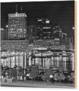 Baltimore Lights Up Brightly Wood Print