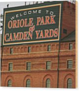 Baltimore Orioles Park At Camden Yards Wood Print