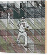 Baltimore Orioles Pitcher - Chris Tillman - Spring Training Wood Print
