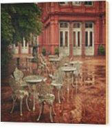 Baltimore Rain Wood Print