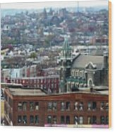 Baltimore Rooftops Wood Print